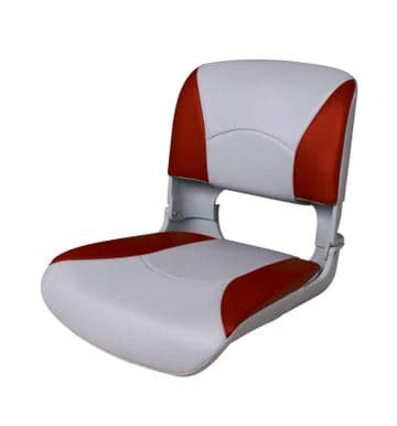 ALL WEATHER DELUXE FOLDING MARINE BOAT SEAT RED AND WHITE 75113WR fishing yacht